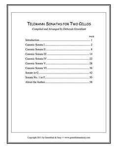 Media Telemann Sonatas for Two Cellos