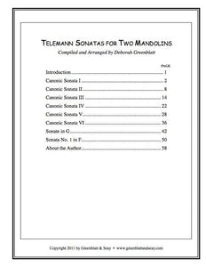 Media Telemann Sonatas for Two Mandolins