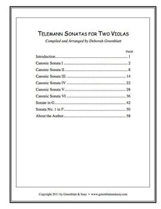 Media Telemann Sonatas for Two Violas