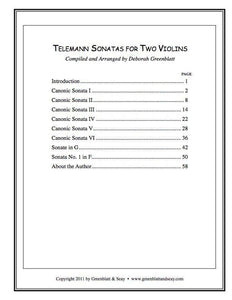 Media Telemann Sonatas for Two Violins