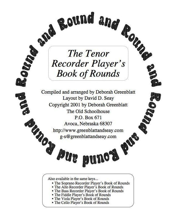 Media The Tenor Recorder Player's Book of Rounds