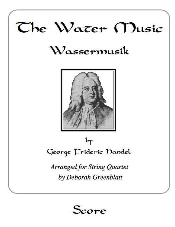 Media The Water Music by George Frideric Handel - Score for String Quartet