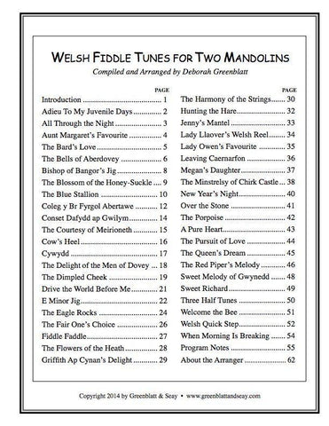 Media Welsh Fiddle Tunes for Two Mandolins