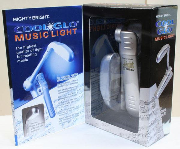 Music Stands Mighty Bright Sight Reader, Fluorescent Light,  Silver