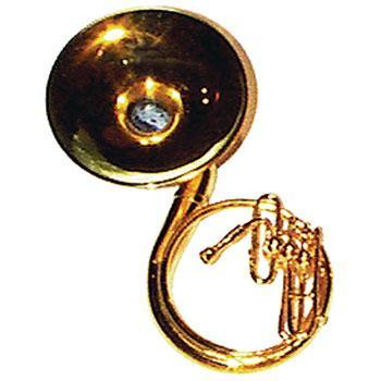 Musical Gifts Mini Sousaphone, Brass, 3-1/2