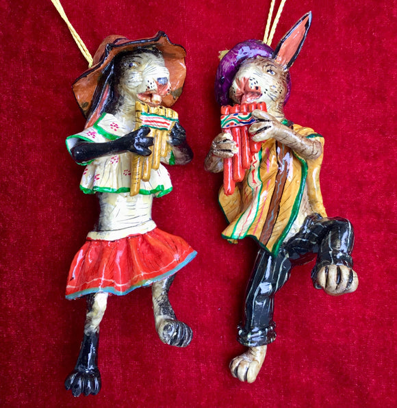Musical Gifts Rabbit with Panpipe Ornament
