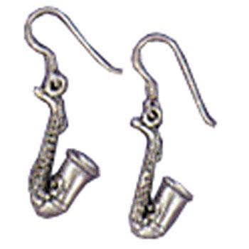 Musical Jewelry Sax Earrings