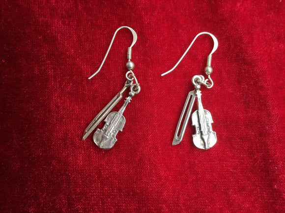 Musical Jewelry Violin Earrings