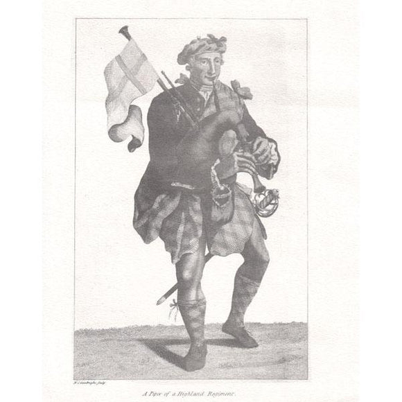 Musical Prints Print : A Piper of a Highland Regiment