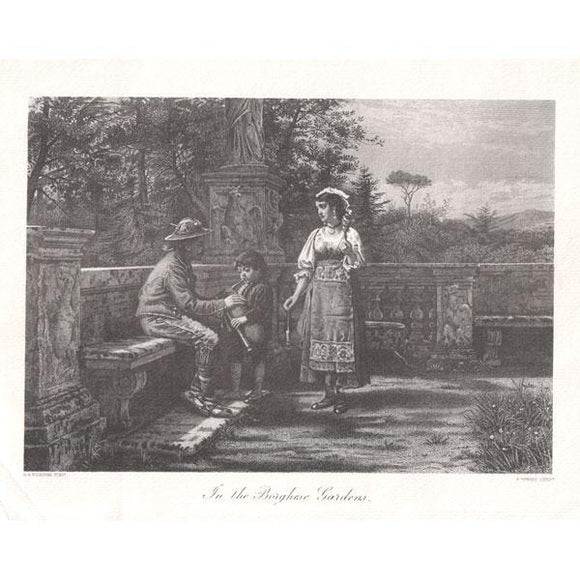 Musical Prints Print : In The Borghese Garden