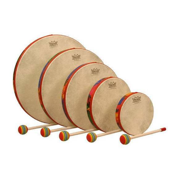 Musical Toys Remo Hand Drum Set of 5, Rain Forest