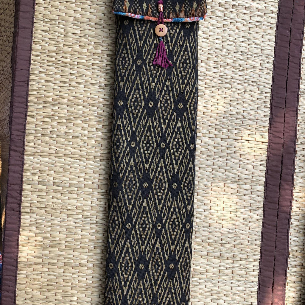 Native American Flutes Cotton Flute Bag with Adjustable Canvas Strap