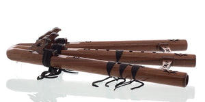 Native American Flutes High Spirits Native American Triple Flute- key of A, Walnut