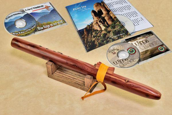 Native American Flutes Windpony Cedar Flute in the Key of A - Complete Starter Kit