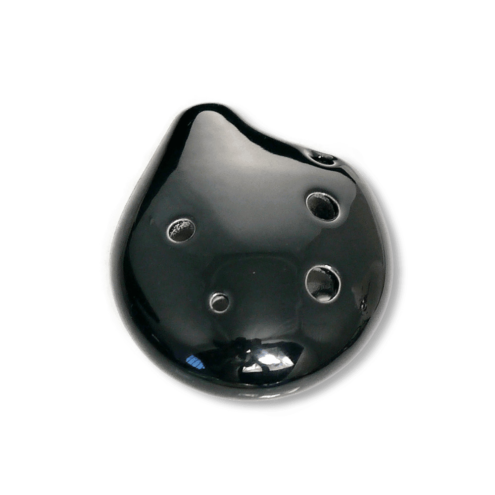 Ocarinas Seedpod Ocarina Soprano C in Midnight Black