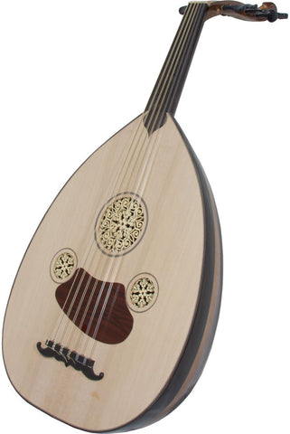 Ouds Mid-East Turkish Electric Oud Black and Mahogany w/ Gig Bag