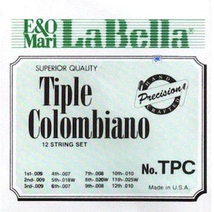 Plucked Strings - Others Tiple Colombiano string set, plain steel, bronze plated wound, 12 strings in 4 triple courses
