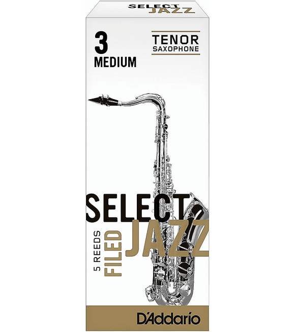 Reeds D'Addario Woodwinds Select Jazz Filed Tenor Saxophone Reeds 5-Pack