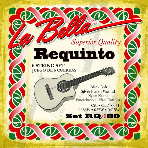 Requintos Requinto string set, nylon, silver plated wound, 6 single strings