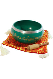 Singing Bowls DOBANI Aluminum Singing Bowl 8 -Inch, Green