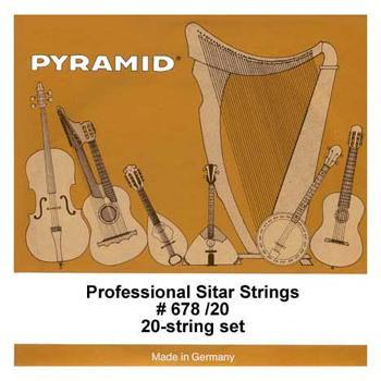 Sitars String Set for Professional Sitar, 20 strings, silver-plated steel