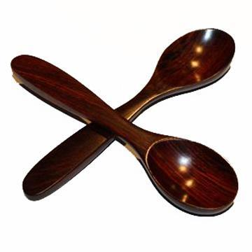 Spoons Beautiful Musical Spoons Rosewood Pair 6 Inch