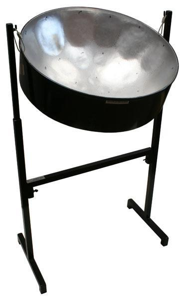 Steel Drums Low Tenor Pan, Painted Finish, with painted adjustable stand and sticks