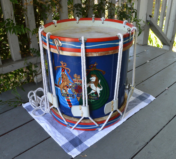 Stick Drums Rope Tension Side Drum, 14 inch Wood Shell With Snare With Coat Of Arms  Second