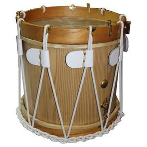 "Stick Drums Rope Tension Side Drum, 14"" Wood Shell With Snare With Sticks And Strap"