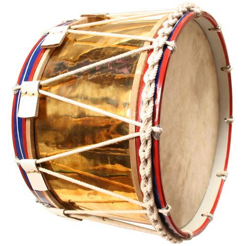 "Stick Drums Rope Tension Side Drum, 20"" Brass Shell"