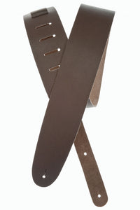 "Stringed Instrument Accesories D'Addario Planet Waves 2.5"" Basic Classic Leather Guitar Strap, Brown"