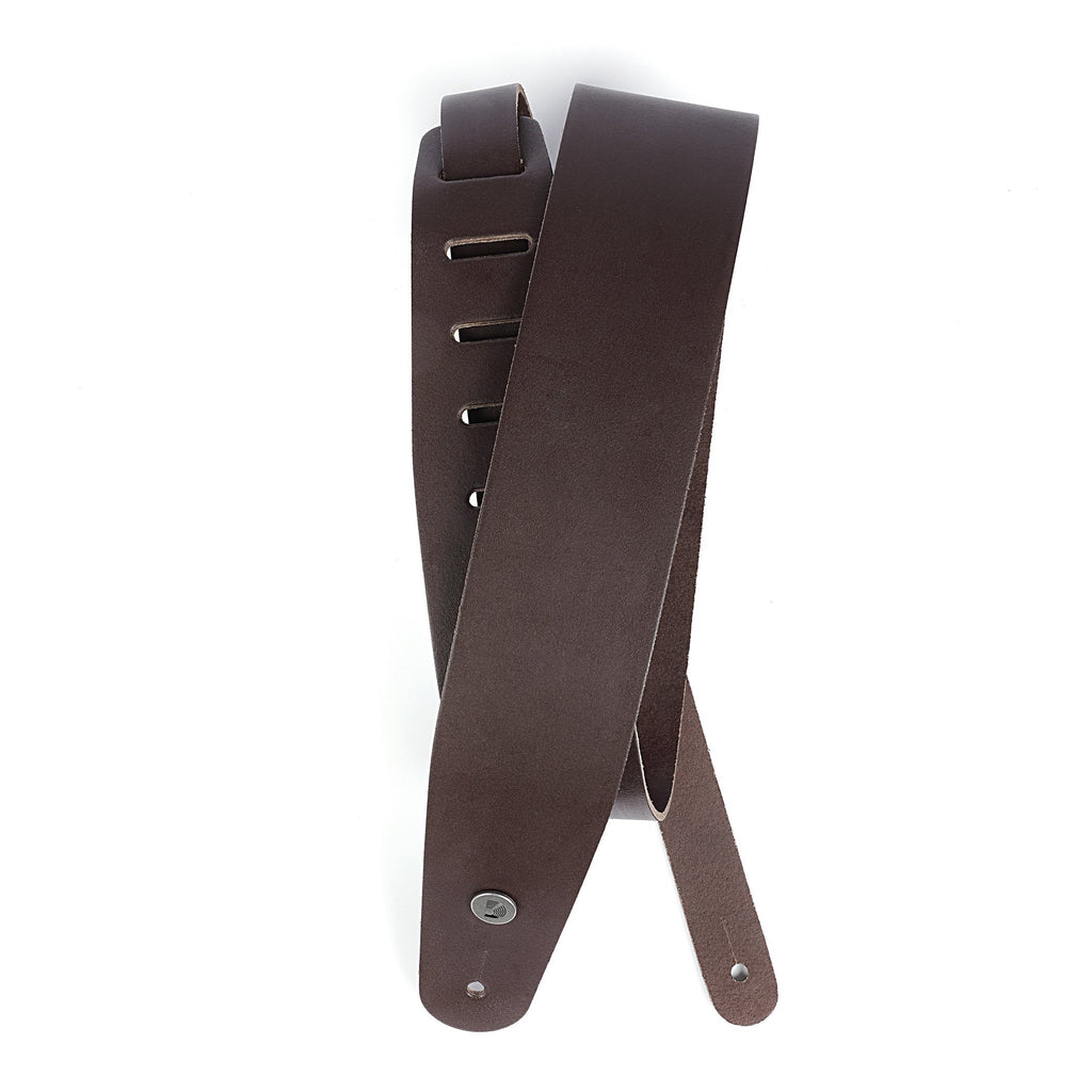 "Stringed Instrument Accesories D'Addario Planet Waves 2.5"" Classic Leather Guitar Strap, Brown"
