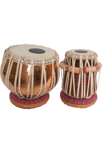 "Tabla banjira Pro Tabla Set Copper Bayan and 5.50"" Dayan"