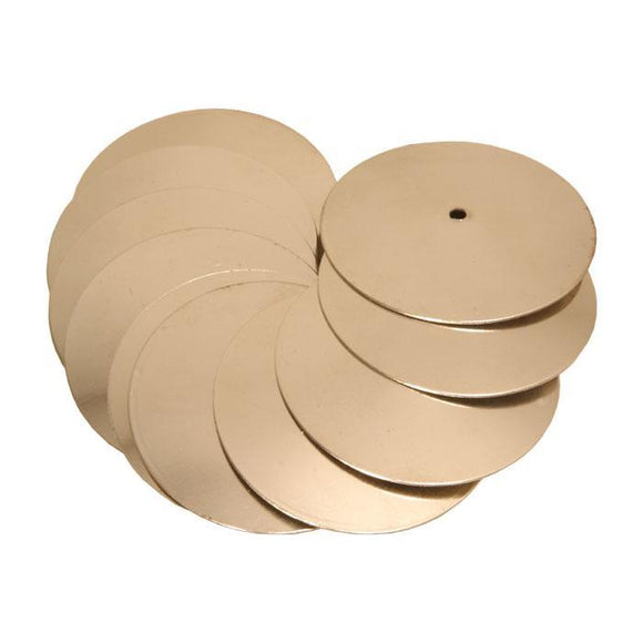 Tambourines Nickeled Brass Jingles, 10 Count