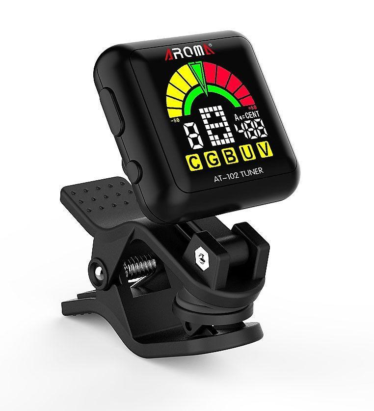 Tuners & Recorders Aroma AT-102 Rechargeable Clip On Chromatic Tuner