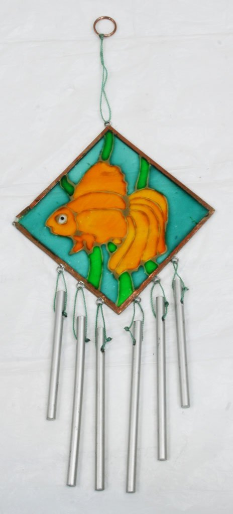 Wind Chimes Fish Glass Chimes, 8