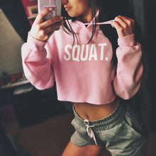 Load image into Gallery viewer, Cropped Hoodie: SQUAT