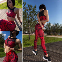 Load image into Gallery viewer, Leggings: Red Cobra
