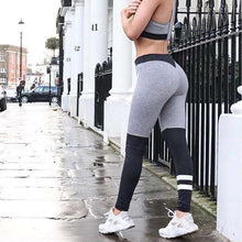 Load image into Gallery viewer, Grey N Black Leggings