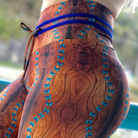 Leggings: WoodGrainPrint