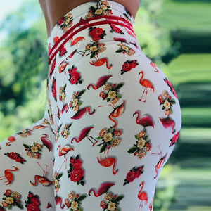 Leggings: Flamingo