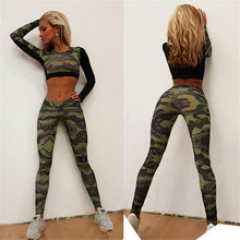Load image into Gallery viewer, Yoga Suit: Camouflage