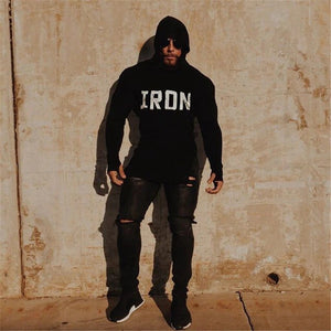 Muscle Hoodie: Iron