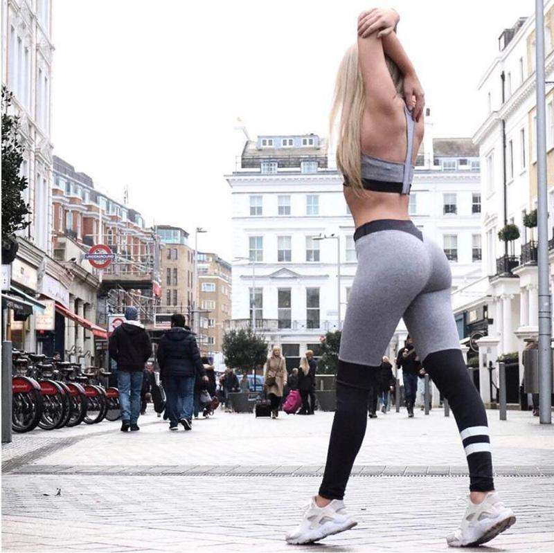 Grey N Black Leggings
