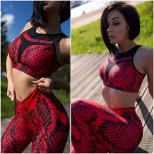 Leggings: Red Cobra