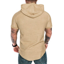 Load image into Gallery viewer, Short Sleeve Muscle Hoodie: Supersonic