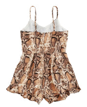 Load image into Gallery viewer, Girls Snakeskin Print Romper