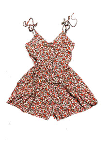 Floral Ditsy Cami Romper with Shirred Back