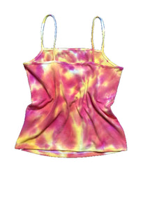 Tye Dye Camisole Tank w/ Embroidered Butterfly