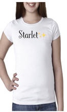 Load image into Gallery viewer, Starlet Short Sleeve Embroidered Tee